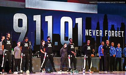 Τίμησαν την 11η Σεπτεμβρίου οι παίκτες του NBA