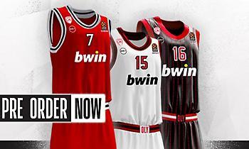 Προς πώληση οι νέες φανέλες του μπασκετικού Ολυμπιακού (pics)