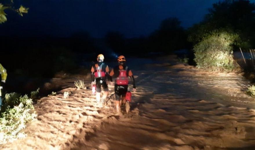 Θρίλερ στον Αλμυρό Βόλου: Άνθρωποι σκαρφάλωσαν σε δέντρο για να σωθούν από τις πλημμύρες