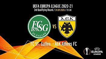 Το πρόγραμμα της ΑΕΚ για το ματς με Σεντ Γκάλεν