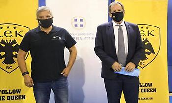 500 τεστ για κορωνοϊό από ΑΕΚ και Περιφέρεια - Αγγελόπουλος: «Έναρξη των εργασιών για το Final-8»