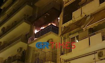 Θεσσαλονίκη: Φωτιά σε διαμέρισμα - Απεγκλωβισμός 12 ατόμων