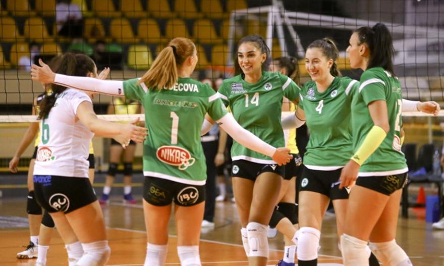 Πρώτη νίκη για Παναθηναϊκό στη Volley League γυναικών