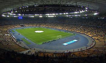 Το μισογεμάτο Ολυμπιακό Στάδιο του Κιέβου στο ματς με τη Γιουβέντους! (vid)