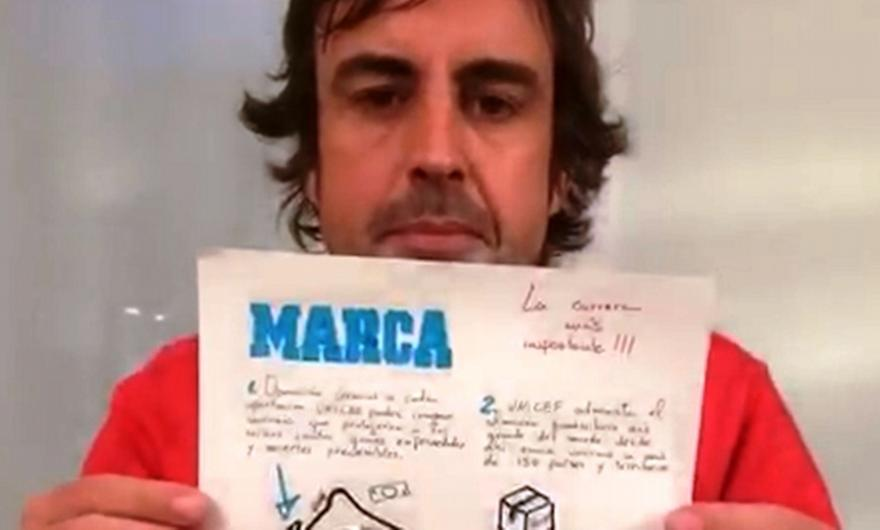 Marca: Ο Αλόνσο σχεδιάζει το πρωτοσέλιδο για ένα πολύ καλό σκοπό