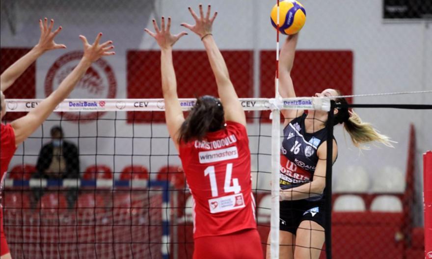 Volley League  γυναικών: Ολυμπιακός-ΠΑΟΚ 3-2
