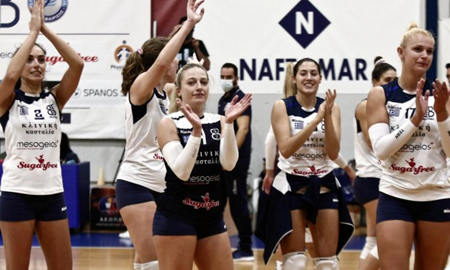Volley League γυναικών: Θέτις-ΑΕΚ 3-1
