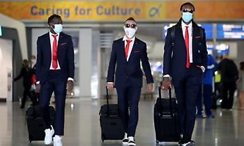 Η αναχώρηση του Ολυμπιακού για την Πορτογαλία