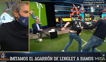 Αναπαράσταση του πέναλτι στο clasico στην ισπανική TV (video)