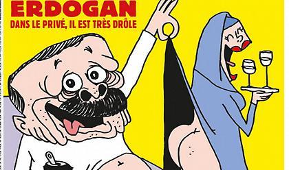 Charlie Hebdo: Έρευνα της τουρκικής εισαγγελίας για το σατιρικό σκίτσο του Ερντογάν