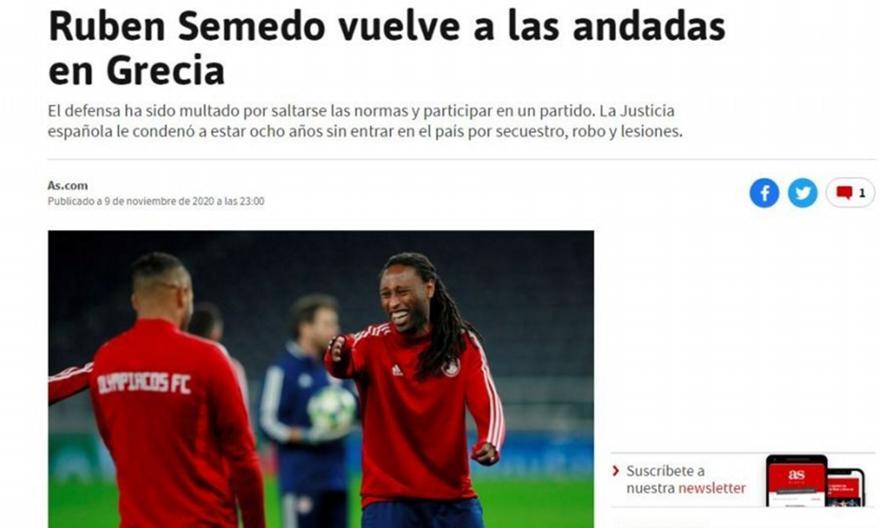 AS: «Ο Σεμέδο γύρισε στις παλιές του συνήθειες»