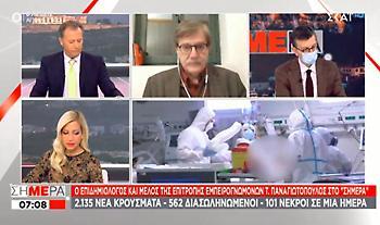 Παναγιωτόπουλος σε ΣΚΑΪ: Μην το κάνουμε όπως το καλοκαίρι - Πρόωρη η συζήτηση για άρση μέτρων