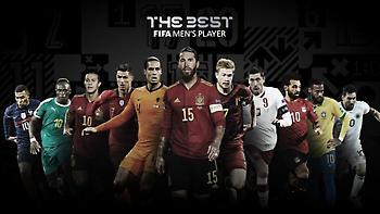 Πέντε «κόκκινοι», ο Ντε Μπρόινε και ο Μπιέλσα υποψήφιοι για τα βραβεία της FIFA
