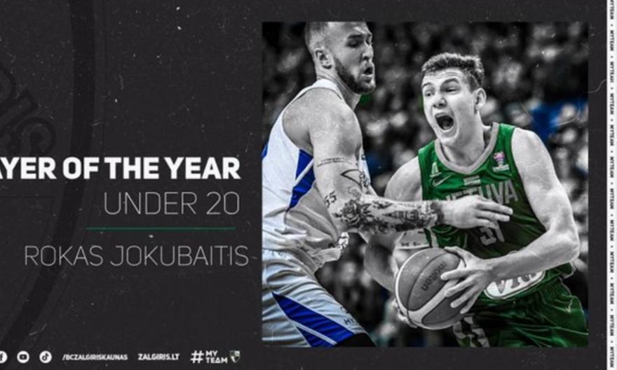 Καλύτερος νέος Λιθουανός παίκτης ο Γιουκουμπάιτις για δεύτερη σεζόν