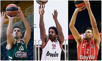 Ευρωλίγκα: Οι δέκα πιο άστοχοι παίκτες φέτος σε τρίποντα