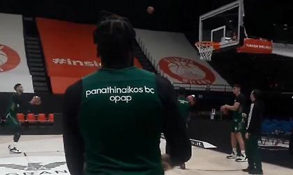 Η προπόνηση του Παναθηναϊκού στο Μιλάνο (video)