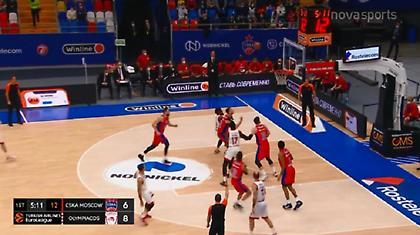 ΤΣΣΚΑ-Ολυμπιακός: Το πρώτο... χτύπημα του Σλούκα (video)