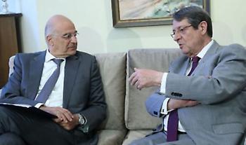 Συνάντηση Δένδια-Αναστασιάδη για τις εξελίξεις στη Μεσόγειο ενόψει του Ευρωπαϊκού Συμβουλίου