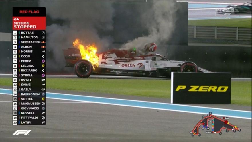 Formula 1: Άρπαξε φωτιά η Alfa Romeo του Ραϊκόνεν (pics)