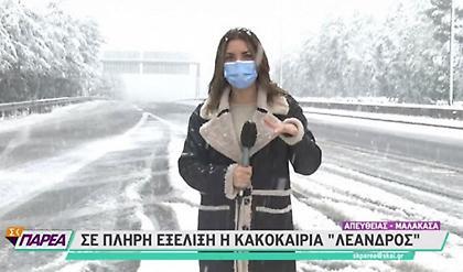 Χιόνια και στην Αττική- Κλειστοί δρόμοι σε Πάρνηθα, Πεντέλη και Υμηττό