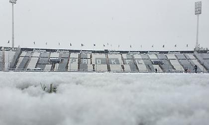 ΠΑΟΚ: Προπόνηση στη χιονισμένη Τούμπα (vid)
