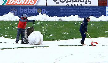 Κίνδυνος αναβολής στο ΑΕΛ-Απόλλων λόγω χιονιού (pics)