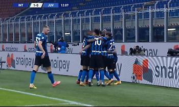 Το 1-0 της Ίντερ μετά το ακυρωθέν γκολ του Ρονάλντο (video)