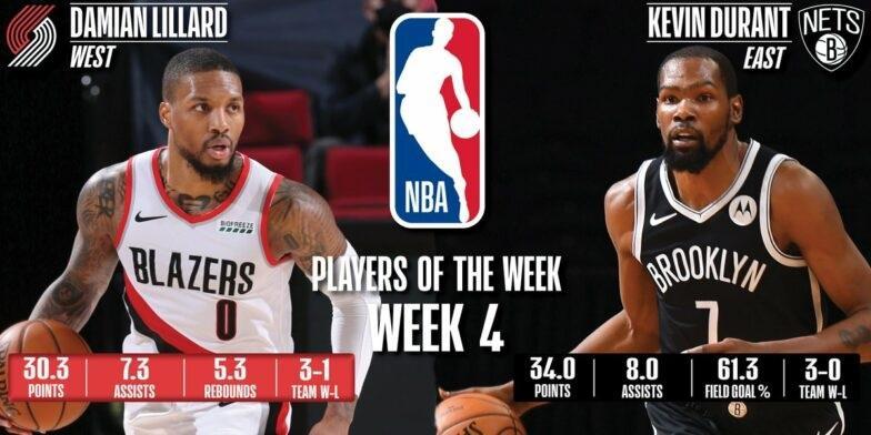 Ντουράντ και Λίλαρντ οι MVP της εβδομάδας στο ΝΒΑ