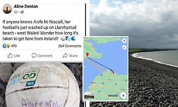 Πιτσιρίκα βρήκε την μπάλα που κλότσησε στη θάλασσα: Ταξίδευε 7 μέρες, διένυσε 200 χλμ. (pics)