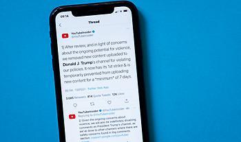 Tραμπ: «Έξωση» και από το youtube- Παρατείνεται η αναστολή του καναλιού του