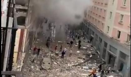 Ισχυρή έκρηξη στη Μαδρίτη: Ισοπεδώθηκε πολυκατοικία (video)