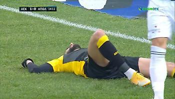AEK-Απόλλων: Μεγάλη ευκαιρία Ολιβέιρα για το 2-0