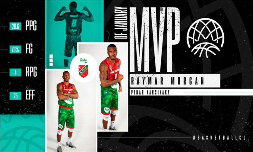 BCL: Παίκτης του μήνα o άλλοτε «πράσινος» Μόργκαν