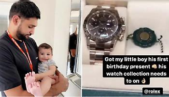Ο Αμίρ Καν χάρισε ρολόι 34.000 ευρώ στον ενός έτους γιο του