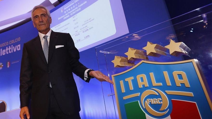 Γκραβίνα: Επανεξελέγη πρόεδρος της ιταλικής ομοσπονδίας