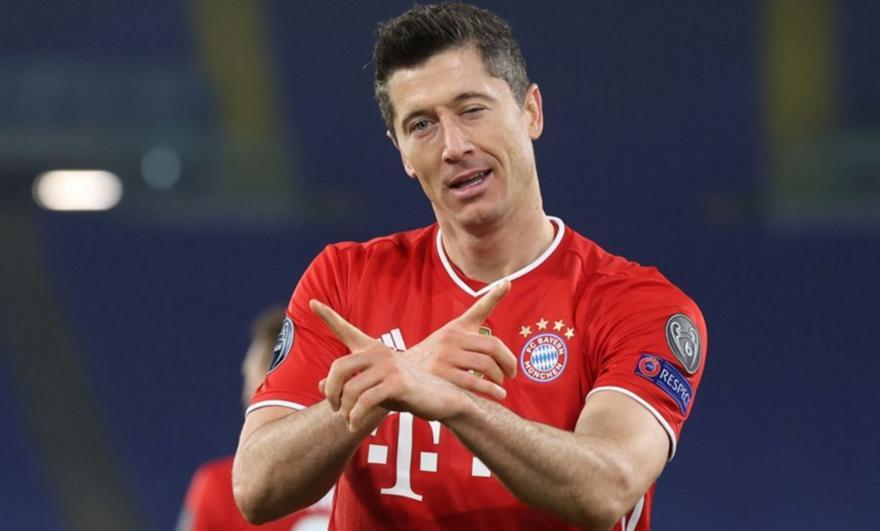 Λεβαντόφσκι: Τρίτος σκόρερ στο Champions League