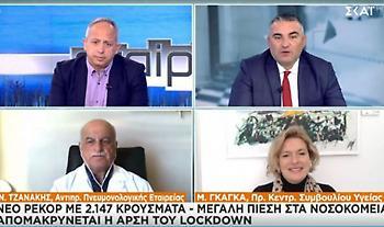 Γκάγκα-Τζανάκης σε ΣΚΑΪ: Μεγάλη πίεση στο ΕΣΥ - Τα 2/3 στην Αττική - Προβλέψεις για κρούσματα