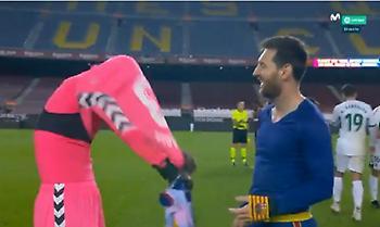 Ο τερματοφύλακας της Έλτσε δεν πίστευε ότι ο Μέσι του ζήτησε τη φανέλα του (video)