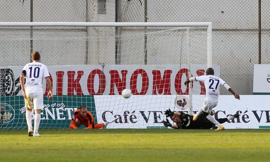 Απόλλων-ΟΦΗ: Το γκολ του Ντάουντα για το 1-0
