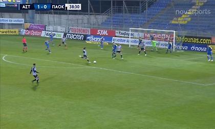 Αστέρας-ΠΑΟΚ: Ξανά κοντά στο γκολ ο Ουάρντα (video)