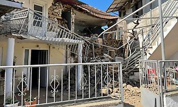Τεράστιες ζημιές σε σπίτι στο Μεσοχώρι Ελασσόνας από τον σεισμό (pic)