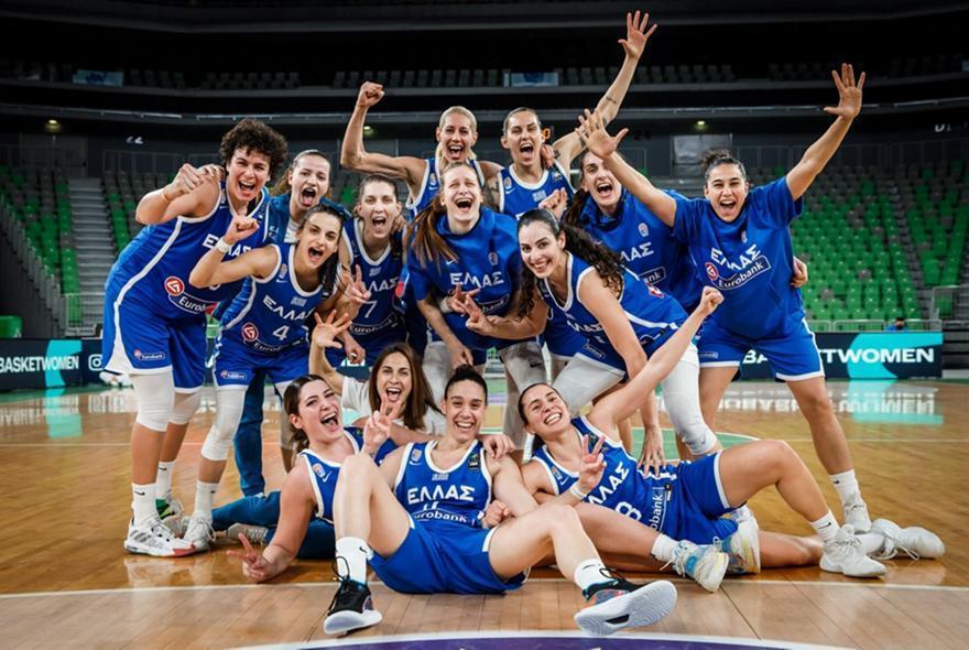 Στο 4ο γκρουπ δυναμικότητας για το Ευρωμπάσκετ η Εθνική Γυναικών