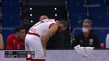 Τραυματίστηκε στο δάχτυλο ο Σπανούλης (video)
