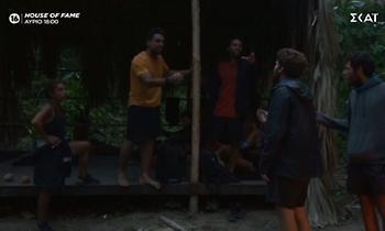 «Δεν θα λες το όνομά μου, τέλος»: Χαμός στο Survivor, αρπάχτηκαν ο Σάκης με Νίκο και James! (video)