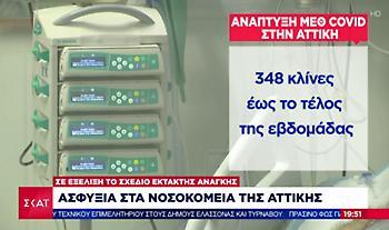 «Ασφυξία» στα νοσοκομεία της Αττικής - Προβληματίζει η αύξηση των εισαγωγών