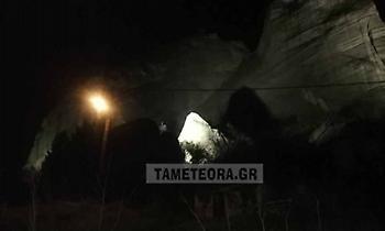 Αποκολλήθηκε βράχος στα Μετέωρα από τον σεισμό των 5,9 ρίχτερ