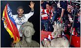 Μία πόλη, δύο ομάδες, δύο αγάλματα