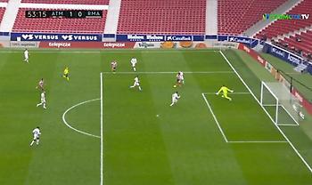 Ατλέτικο Μαδρίτης-Ρεάλ Μαδρίτης: Πολύ κοντά στο 2-0 οι «ροχιμπλάνκος»! (video)