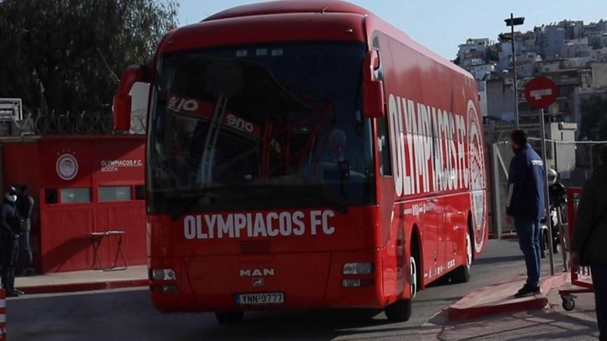 Ολυμπιακός: Η άφιξη στο «Γ. Καραϊσκάκης» (video)