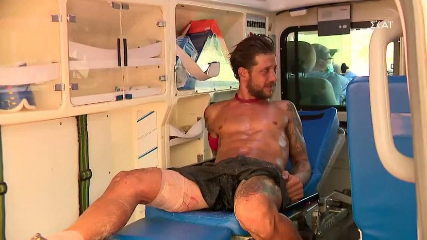 Survivor: Ο τραυματισμός του Ηλία-Τον πήρε ασθενοφόρο
